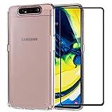 Funda + Cristal templado para Samsung Galaxy A80