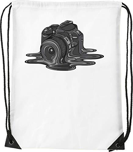 Melting Digital Camera Art Bolsa con cordón Saco Senderismo