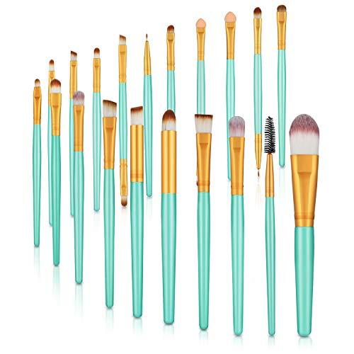 Make-up-Pinsel-Set, 20-teilig, für Puder, Grundierung, Lidschatten, Eyeliner, Lippen, Kosmetikpinsel, Make-up, Toilettartikelset, ideal für den professionellen und täglichen Gebrauch