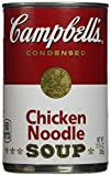Campbell's Condensed Chicken Noodle Soup Twelve 10.75 Ounce Cans Value Box Each order has Twelve 10.75 Ounce cans of delicious Campbell's COndensed Chicken Noodle Soup Great for college dorm food, snacks, and quick pick me ups
