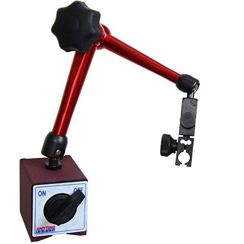 Anytime Tools Magnetic Base Dial Digital Test Indicator Holder 3D Central Locking 176 lb Heavy Duty