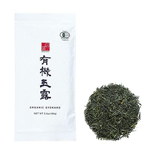 Ocha & Co. Organic Gyokuro Green Tea – Shade Grown Japanese Loose Leaf Green Tea – Smooth Umami-Rich Aromatic Organic Green Tea from Japan, 100g/3.5oz.