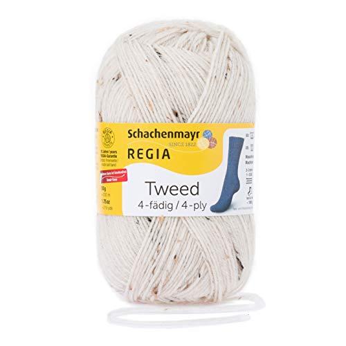 Schachenmayr REGIA Handstrickgarne 4-fädig Tweed, 50g Natur Tweed