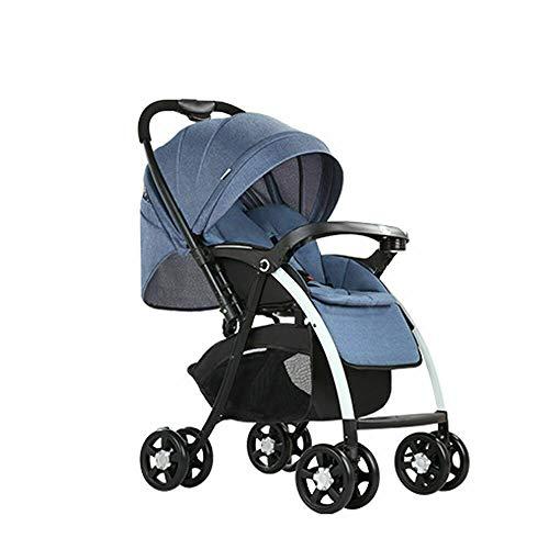 klappbar Buggy Kinderwagen Sportwagen Kinder Wagen Shopper Jogger Kinderbuggy Praktischer, sicherer, komfortabler, stoßdämpfender für Babys bis 25Kg Blau