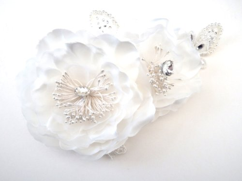 Cream Fascinator on Headband/ Clip-in for Weddings, Races and Occasions-4775