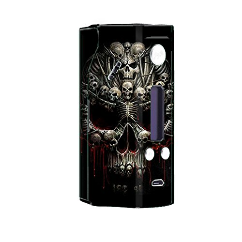 Skin Decal Vinyl Wrap for Wismec RX200 Reuleaux Vape Mod / Skulls inside Skulls Art