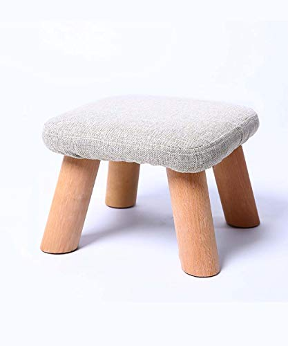 QQXX kruk van massief hout Iachia zitzak stof sofa kinderen wisselende schoenen kruk stoel woonkamer slaapkamer varken vorm wit QX6476r-4 Qx6476r-4