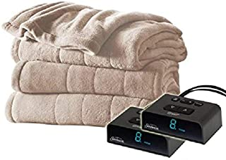 Holmes Luxury Velvet Plush Heated Blanket (Various Sizes and Colors) (King, Sand)