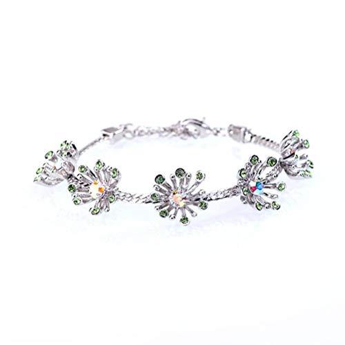 S&RL Pulsera Decorativa para Mujer, Joyería, Joyería de Cristal Simple, Pulsera de Cristal, Cadena de Margaritasaceituna