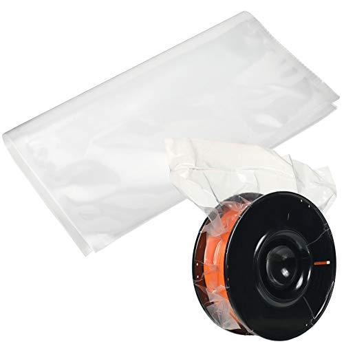 10 Pezzi Sacchetti di Filamento di Stampante 3D Borse Sigillata Sottovuoto a Compressione di Imballaggio Sacchetti in Nylon Addensato per Maggior Bobine da 1 Kg (2,2 lb), 11,8 x 13,4 Pollici