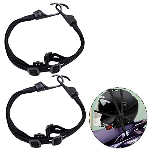 Dogxiong 2 Pack 60cm Motorcycle Luggage Net Helmet Elastic Rope, Retractable Helmet Cord with 2 Hooks Elastic Rope Strap for Motorcycle Helmet Luggage