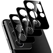 LK 3 Pack Camera Lens Screen Protector Compatible with Samsung Galaxy S21 Ultra 5G - 6.8 inch Tempered Glass, Ultra Thin High Definition Anti-Scratch Camera Lens Protector
