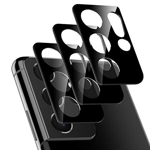 LK 3 Stück Kamera Schutzfolie Kompatibel mit Samsung Galaxy S21 Ultra, Galaxy S21 Ultra 5G Kamera Panzerglas, Shedding, Kratzer, Staub Kompatibel mit Handyhülle 9H HD Panzerglasfolie