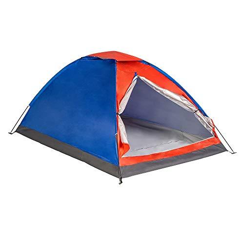 Enrico Coveri Tenda da Campeggio 4 Posti in Tessuto Impermeabile con Zanzariera, Struttura Pieghevole Facile e Veloce da Montare, per Camping, Escursione, Spiaggia e Viaggio