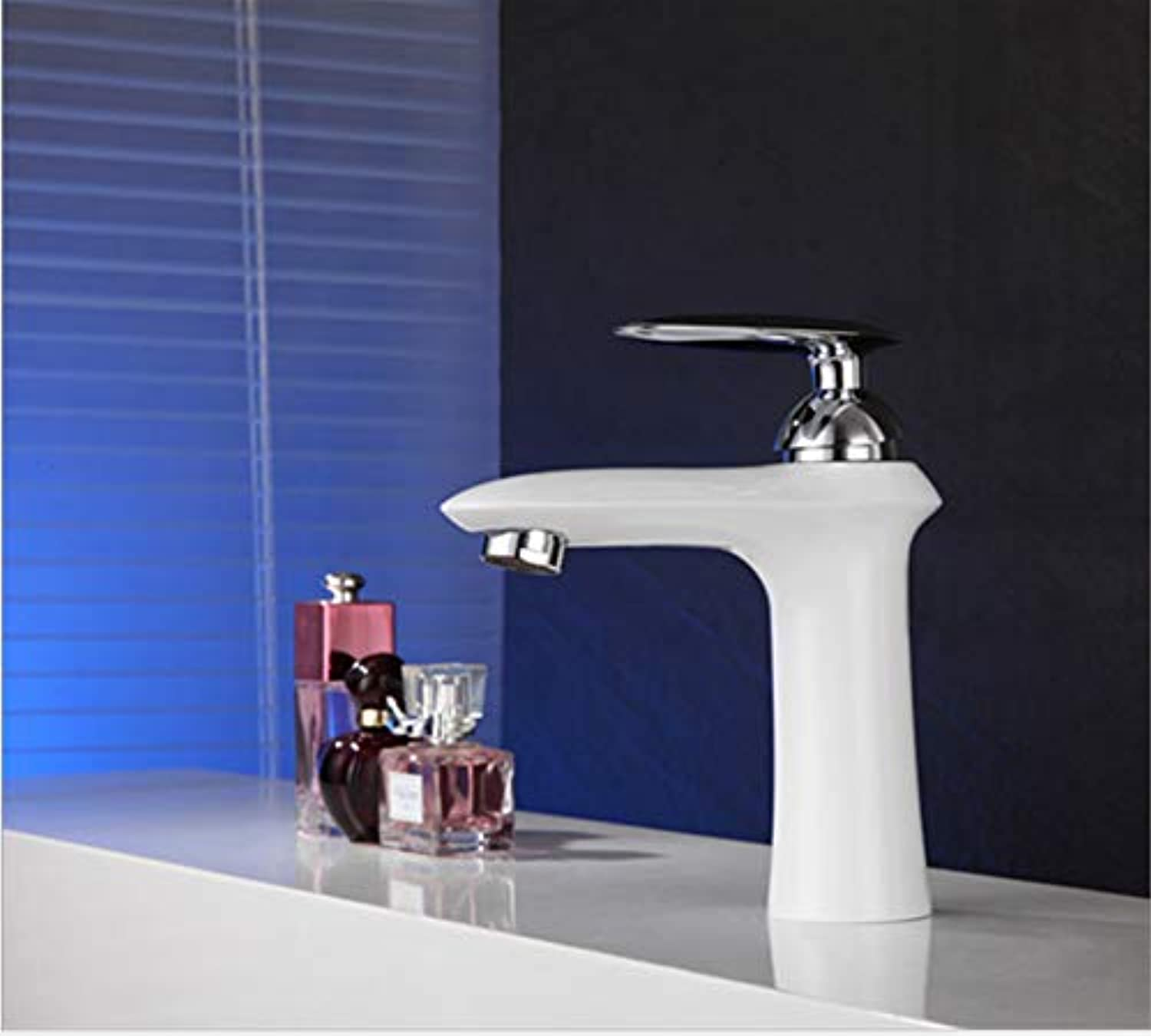 Kitchen Sink Taps Bathroom Sink Taps White Paint Hot And Cold Water Faucet Sink Basin Faucet Black Matte Paint Hot And Cold Faucet