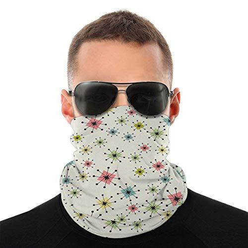 Neck Headwrap Guêtres tour de cou en forme de bandanas sans couture Vintage Atomic Stars pour homme et femme, écharpe multifonction pour poussière/plein air/sport