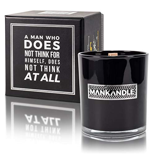 Majestic Zen's- ManKandle Awesomely Scented Premium Glass Jar Candle for Men | Great Gifts for Men | Birthday Gifts for Boyfriend | Gifts for Dad on Fathers Day | Man Candles | Luxury | Gifts for Son
