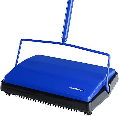 Casabella Carpet Sweeper 11' Electrostatic Floor Cleaner - Blue