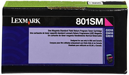 Lexmark 80C1SM0 Magenta Standard Yield Return Program Toner