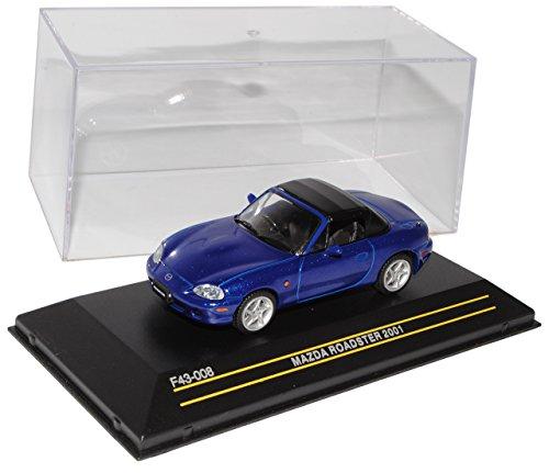 First 43 Mazda MX-5 NB Blau 1998-2005 1/43 Modell Auto mit individiuellem Wunschkennzeichen