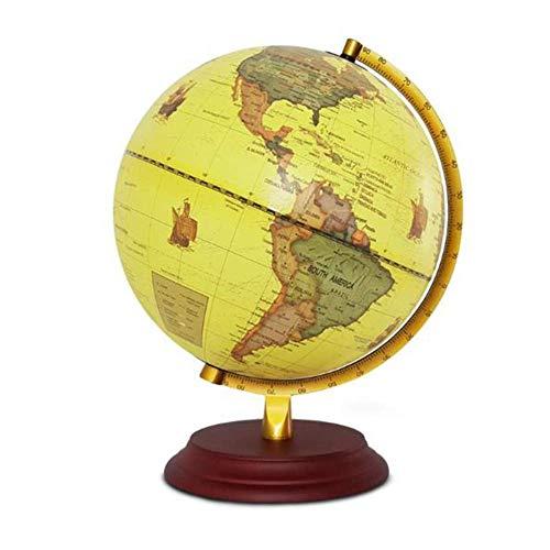 Globo Mini Mapa Mundo Inglés 25 CM Globo Escuela Media Estudiante Retro Luminoso LED Lámpara de Mesa Decoración Decoración Aula Juguete Educativo Juego Educativo