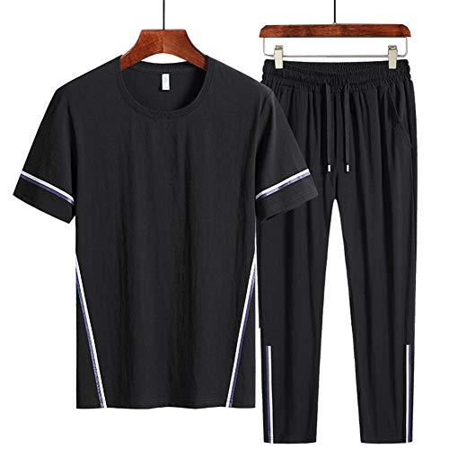 LIXIAOLAN Männer Lauf Set 2Pcs / Sets Herren Sport Compression Sport Anzug Kleidung Laufen Jogging Sport Wear-Übungs-Trainings-Strumpfhosen,A,6XL