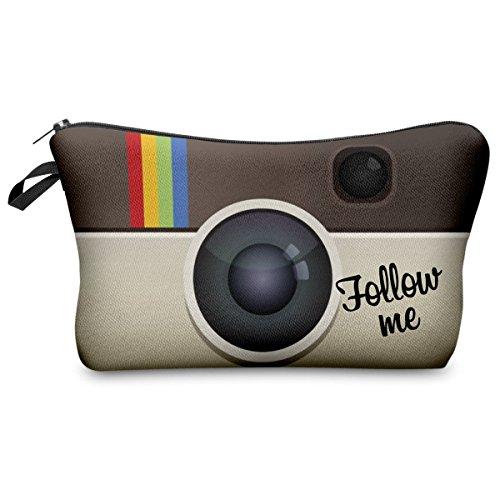 Federmäppchen Kosmetiktasche Federtasche Stiftemappe Make Up Täschchen Full Print All Over Bag Instagram Follow Me [009]