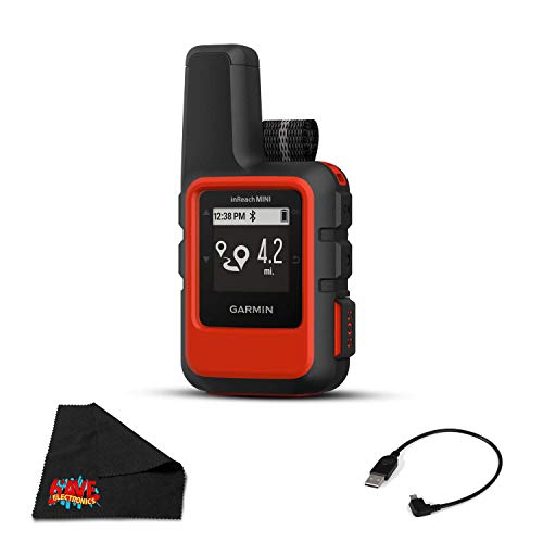 Garmin inReach Mini Satellite Communicator (Orange) Hiking GPS (Satellite Subscription Required)- Bundle with 1 Year Warranty