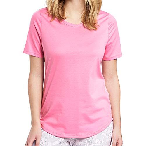 Rösch - Damen Schlafanzug Shirt - Kurzarm (44 Aurora Pink)