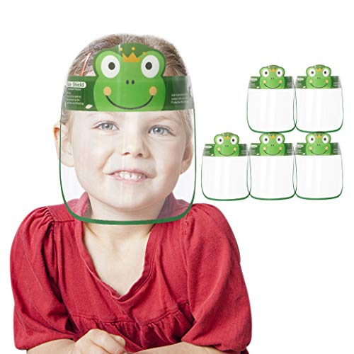 Amcool Visier Gesichtsschutz aus Kunststoff |Kind Kinderkarikatur Cartoons Kinder | Face Shield | Universales Gesichtsvisier für Kinder | Visier zum Schutz vor Flüssigkeiten (5 Stück A)