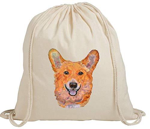 Lindo perro cachorro mascota animal mujer hombre ecológico bolsa de almacenamiento ravel gimnasio bolsa de algodón cordón