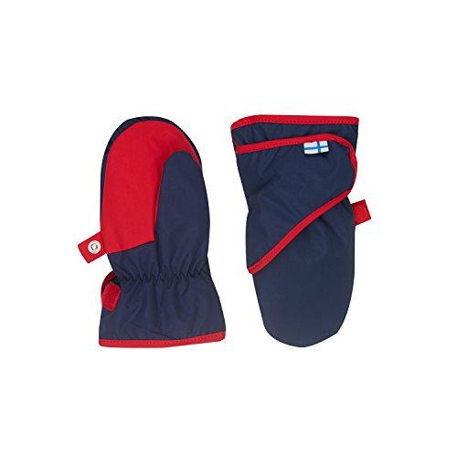 Finkid Lapanen Navy red Wind & wasserdichte Kinder Winter Handschuhe