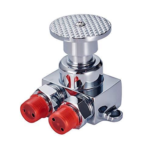 AXWT Espesar Chapado for Suelo de instalación del Grifo Pedal Interruptor Grifo grifos válvula de pie, for el baño lavabos en los hospitales, Lugares públicos Tap (Color : Foot Valve)