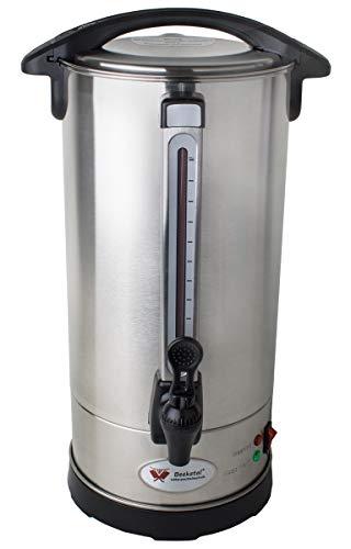 Beeketal 'BGK9' Gastro Rundfilter Kaffeemaschine 9 Liter, Edelstahl Filterkaffeemaschine doppelwandig mit 2 Heizsystemen (Brühen/Warmhalten), Füllstandsanzeiger und rosftreiem Permanent-Filter
