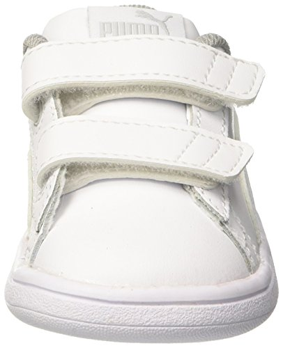 PUMA Smash v2 L V Inf, Zapatillas Unisex niños, White White, 24 EU