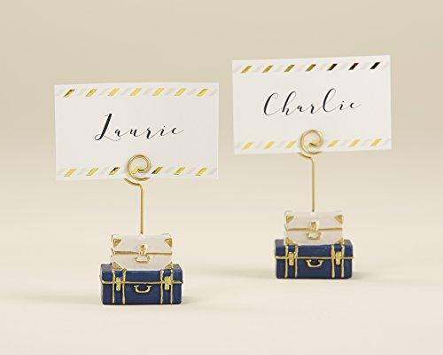 Kate Aspen, Suitcase Place Card Holder, Wedding/Party Decoration (Set of 6)