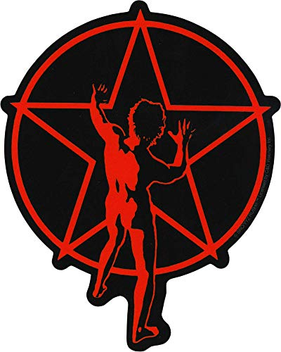 Square Deal Recordings & Supplies - Rush - Red Starman with Pentacle - Die Cut Sticker