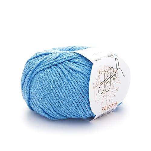 ggh Tavira - 015 - Aqua - 100% algodónpara tejer y hacer ganchillo