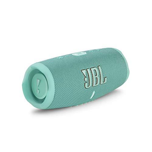 JBL Charge 5 – Altavoz inalámbrico portátil con Bluetooth y batería integrada, resistente al agua (IP67), con PartyBoost para subir el nivel de la fiesta, hasta 20h de reproducción, aquamarine