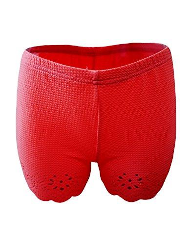 Bestgift dames ondergoed mode veiligheidsbroek leggings hipster retroshorts boxershorts rood één maat