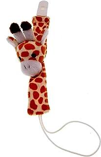 Cadena para chupete de peluche con forma de jirafa alegre y suave accesorio indispensable idea regalo para los más pequeños