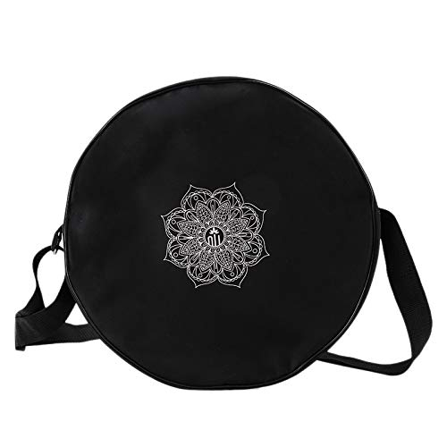 SovelyBoFan Bolsa de Rueda de Yoga Flor de Mandala de NylóN Negro Bolso Circular Yoga 36X14Cm para Rueda de Yoga de Gran Capacidad