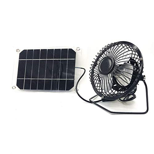 solar fan USB 3W Iron Fan 4Inch Cooling Ventilation Car Cooling Fan black