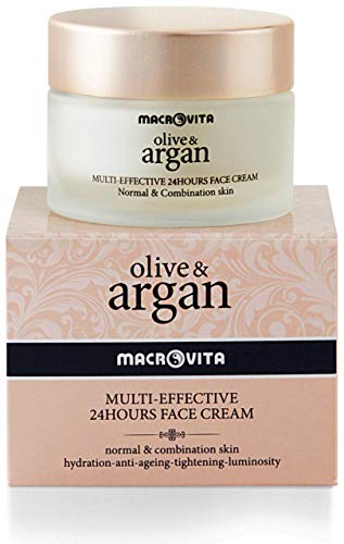 MACROVITA Crème visage Multi-Efficace 24 heures OLIVE & ARGAN 50 ML. Pour les peaux normales et mixtes