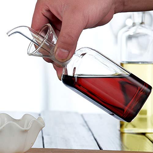 Ölflasche, Glasflasche, Olivenöl, Spender, Kochen, Öl, Essig, Messspender mit Ausguss, für Küche und BBQ
