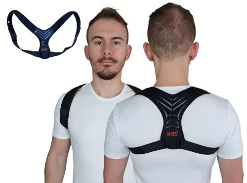 UVILES Haltungskorrektur für Männer und Frauen – verstellbarer und atmungsaktiver Schultergurt vom Haltungstrainer führt zur Unterstützung des Schlüsselbeins und Linderung von Rückenschmerzen.