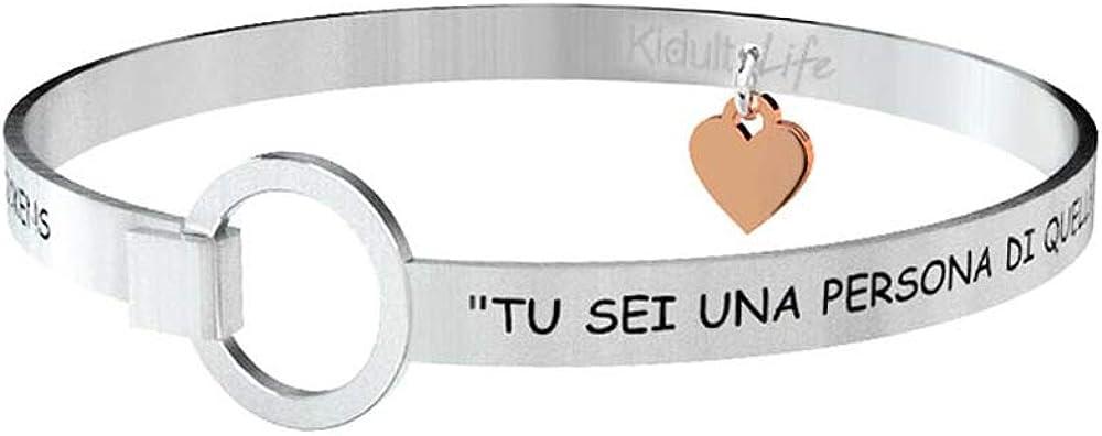 Kidult,cuore desiderio,braccialetto per donna,con pendente, in acciaio inossidabile 731058731058