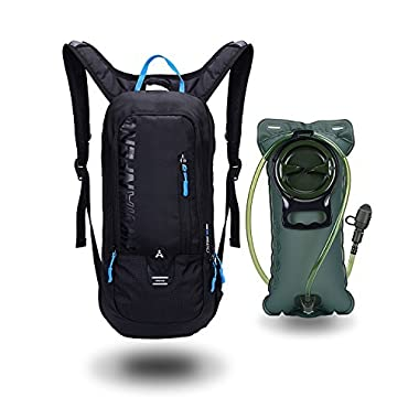 Arvano 6L Biking Backpack Waterproof, Hydration Pack with 2L Backpack Water Bladder Cycling Ski Rucksack Biking Bag,Breathable Shoulder Backpack Lightweight for Outdoor Sports Camping Hiking Running