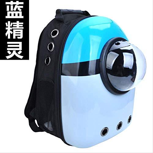 AHJSN Pet Carrier Pet Raumtasche Cat Travel Out Tragbare Umhängetasche Transparenter, atmungsaktiver Rucksack für Haustiere, geeignet für Katzen und Schlümpfe ähnlicher Größe