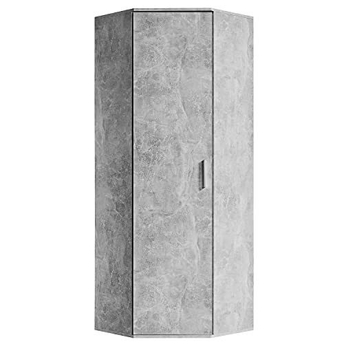 mokebo® Eckschrank 'Der Lange' moderner Mehrzweckschrank, Schrank & Haushaltsschrank, Made in Germany | 64x180x64 (B/H/T in cm)